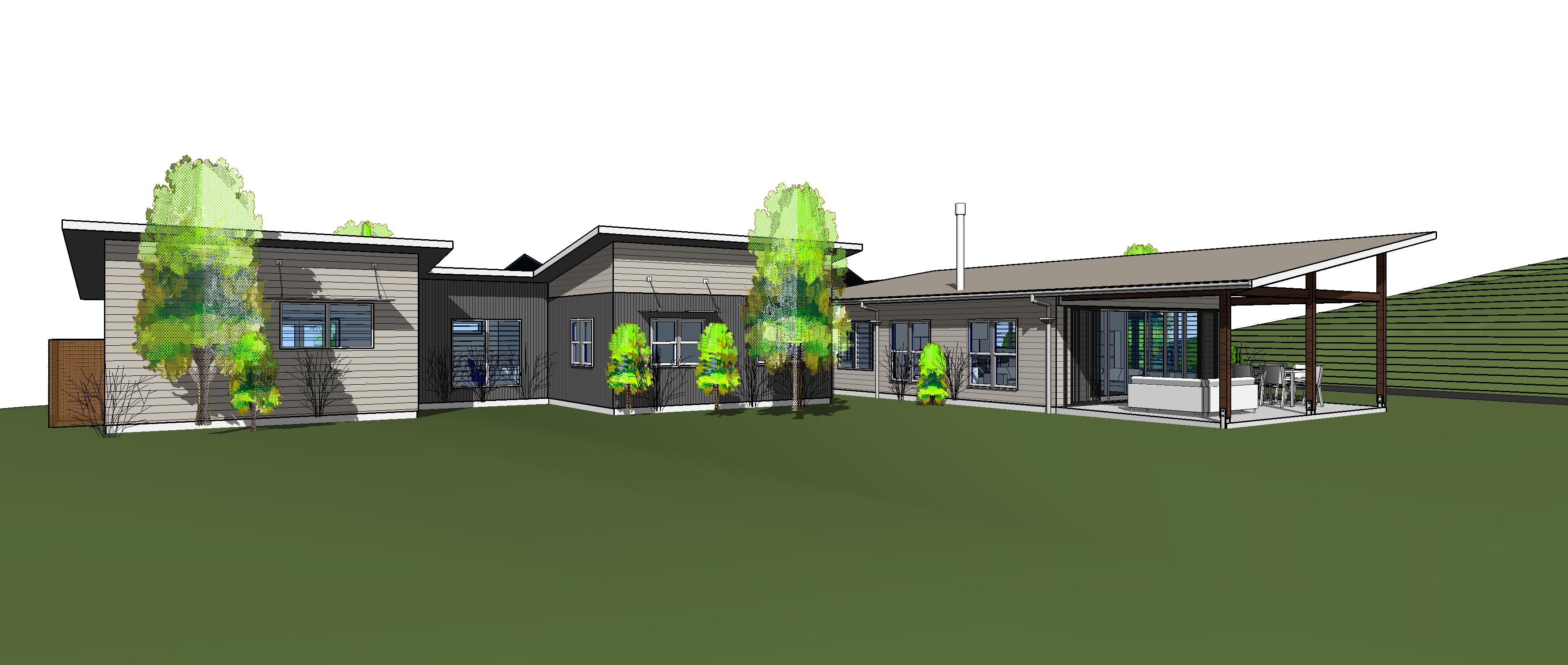 image of random house in revit 3d