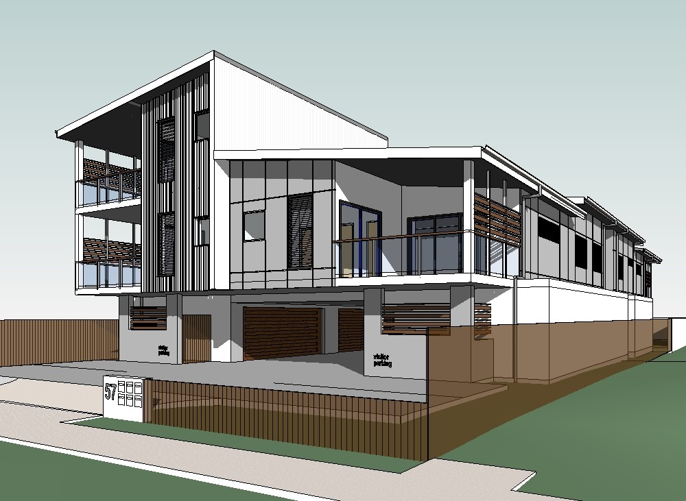 Revit 3d image gallery east coast building design for Revit architecture modern house design